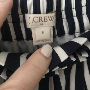 J. Crew Skirts - J.Crew navy and white pleated midi skirt